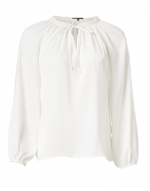 Caprice Ivory Hammered Silk Blouse