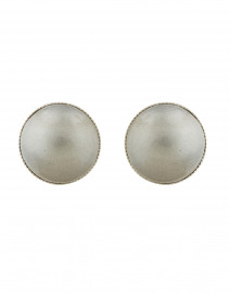 Grey Pearl Clip-on Earrings
