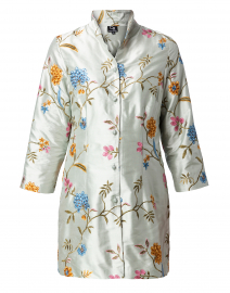 Rita Pale Seafoam Enchanted Garden Silk Jacket