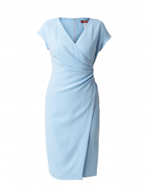 Parola Light Blue Ruched Dress