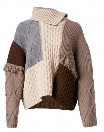 Visino Virgin Wool Patchwork Sweater
