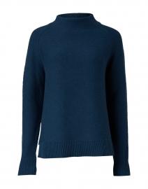 Teal Garter Stitch Cotton Sweater