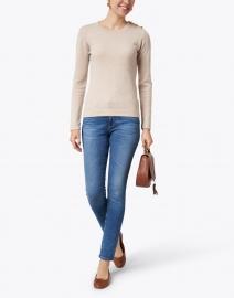 Cortland Park - Molly Beige Cashmere Sweater