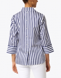 Hinson Wu - Aileen Navy and White Stripe Cotton Shirt