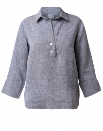 Aileen Graphite Button Back Linen Shirt