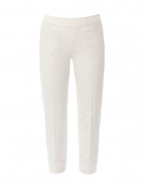 Audrey Ivory Stretch Cotton Capri Pant