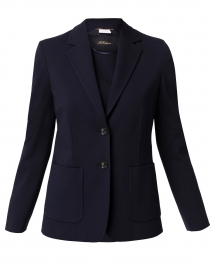 Navy Stretch Milano Wool Blazer