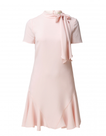 Bosher Blush Pink Stretch Crepe Dress