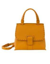 Orleans Mini Yellow Pebbled Leather Handbag