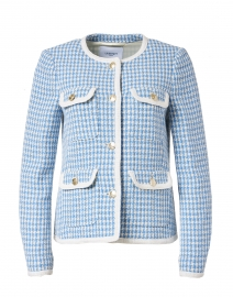 Valentina Blue and White Tweed Jacket