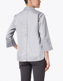 Hinson Wu - Aileen Soft Grey Cotton Top