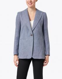 Lafayette 148 New York - Hurley Blue Linen and Wool Blazer