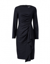 Sultano Navy Ruffled Dress