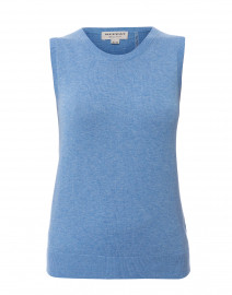 Blue Cotton Viscose Tank