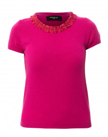 Fuchsia Wool Cashmere Top