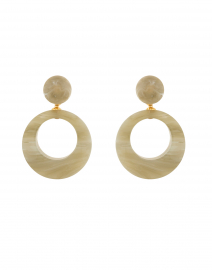 Ischia Jade Resin Drop Hoop Earrings