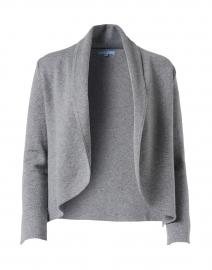 Leah Grey Cotton Cashmere Knit Jacket