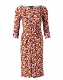 Acume Pink and Multi Floral Print Jersey Dress