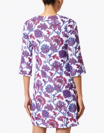 Jude Connally - Megan Blue and Red Floral Dress