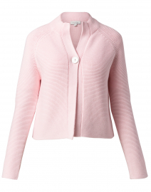 Pink Garter Stitch Cotton Cardigan