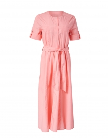 Pink Cotton Shirt Dress