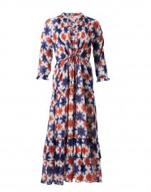 Brenda Blue and Orange Shibori Cotton Voile Dress