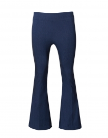 Indigo Stretch Pull On Flared Crop Pant