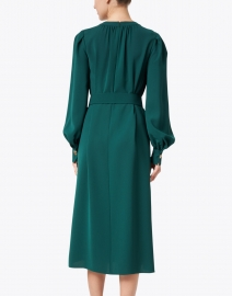 Lafayette 148 New York - Iver Cedar Green Silk Dress