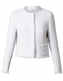Bylla Off-White Cotton Fringed Jacket