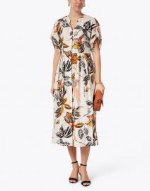 Marc Cain - White Floral Cotton Dress