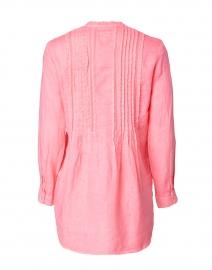 120% Lino - Hibiscus Pink Linen Pintucked Shirt