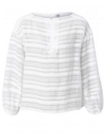 Seymore White Sheer Stripe Top
