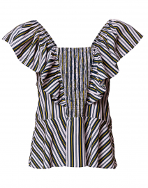 Estella Black and White Striped Top