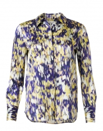 Scottie Multi Printed Silk Blouse