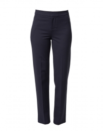 Lombard Navy Slim Leg Stretch Trouser
