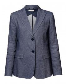 Zulma Chambray Linen and Cotton Blazer
