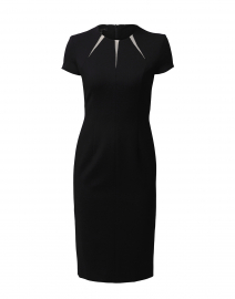 Daylor Black Crepe Cut-Out Dress