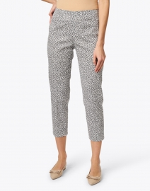 Piazza Sempione - Audrey Black and White Floral Stretch Cotton Pant
