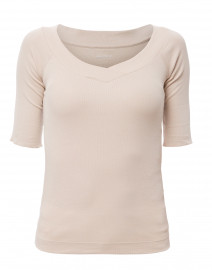 Beige Crossover Top
