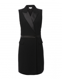 Swanson Black Sleeveless Tuxedo Dress