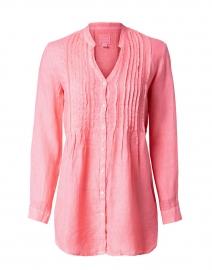 Hibiscus Pink Linen Pintucked Shirt