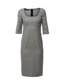 Grey Plaid Sheath Dress