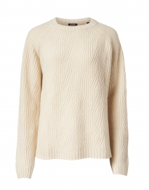 Cream Wool and Cashmere Cable Knit Sweater