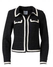 Maory Black and Ivory Tweed Jacket