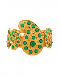 Emerald and Gold Taj Paisley Cuff