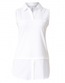 Lea White Stretch Cotton Underlayer Shirt