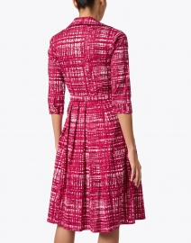 Samantha Sung - Audrey Pink Printed Stretch Cotton Dress