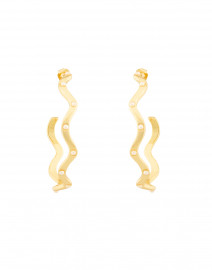 Elixir Pearl Studded Gold Hoop Earrings