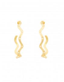 Elixir Pearl Studded Gold Hoop Earrings