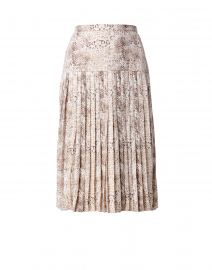 Rovena Animal Print Pleated Midi Skirt